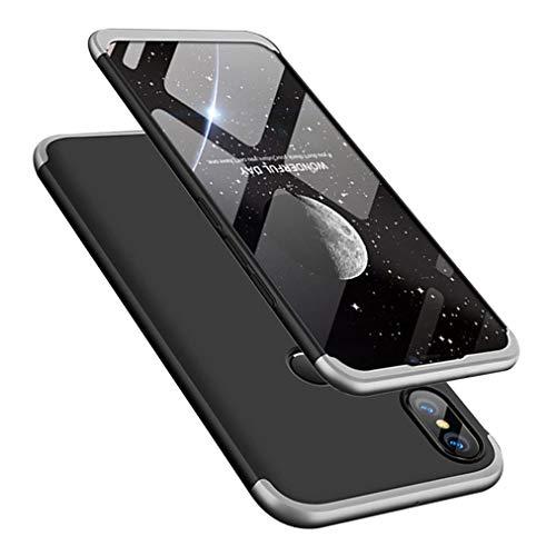 MRSTER Funda Xiaomi Mi MAX 2-360 Grados Protección Cubierta PC Hard Case Anti-Shock Anti-Scratch 3 in 1 Ultra Slim Caso Cover Carcasa para Xiaomi Mi MAX 2