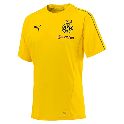 PUMA Herren BVB with Sponsor Logo Training Jersey, Cyber Yellow, L