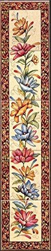 Alhambra Open haard tegel muurschildering decoratieve bloemen Trellis verticale tegels muurschildering hand versierd in het Verenigd Koninkrijk
