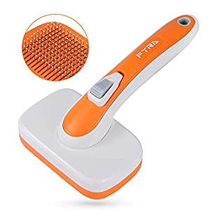 FYRA Dog Brush & Cat Brush, Pet Grooming Comb with Massages Particle, for Removes Undercoat, Shedding Mats and Tangled Hair, Easy to Clean, Pet Grooming Tools of Dogs and Cats.