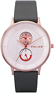 Police Berkeley Analogue Rose Gold Case, Silver Dial And Grey Leather Watch For Men - PL 15402JSR-04