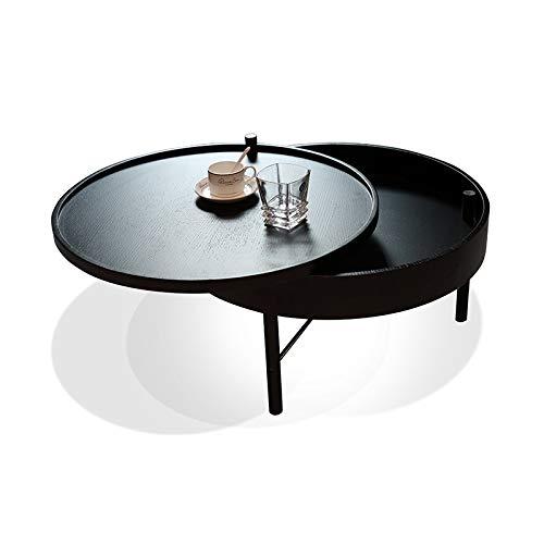 Houten rotary koffietafel, draagbaar, modern, voor woonkamer, slaapkamer, slaapkamer, slaapkamer, slaapkamer, persoonlijkheid, nachtkastje, woonkamer, kleine woning, kleine tafel