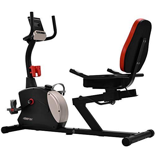 ZOEON Ergometer Heimtrainer - Liegeergometer Heimtrainer Fahrrad mit App-Steuerung - 8 Widerstandsstufen - mit Sensor - Verstellbarer Sitz - mit Getränke- / Telefonhalter