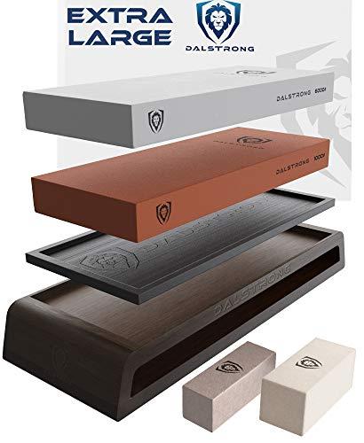 DALSTRONG - Premium Whetstones - Extra Large Grit Stones - Top-Grade Corundum - Thick - Ultra-Durable… (#1000/#6000 Grit Premium Whetstone Kit)