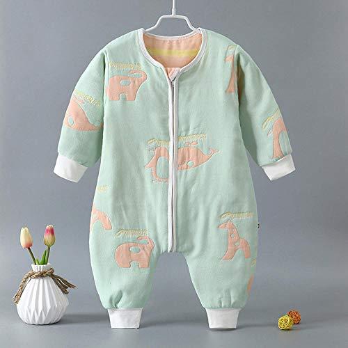 Baby-winterslaapzak, baby-katoenen gaas-slaapzak, klimpak, gespleten legging-Penguin Elephant_66cm, baby-inbakerdoek Warme wandelwagenomslag