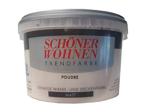 SCHÖNER WOHNEN FARBE Wand- und Deckenfarbe Trendfarbe Poudre, matt, 2,5 l 2 l, poudre