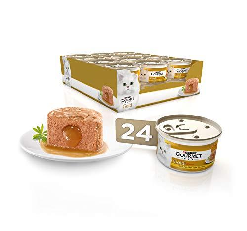 Purina Gourmet Gold Fondant comida para gatos con Pollo 24 x 85 g ✅