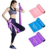 Resistance Bands Set 3 Pack Latex Elastic Bands 1.5M 1.8M 2.0M with Three Resistant Levels...