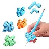 Agarres para Lápices, Yuccer 6 Piezas Adaptador Lapiz Pencil Grip Ergonómicas Herramienta de Corrección de Postura Para Niños Adulto