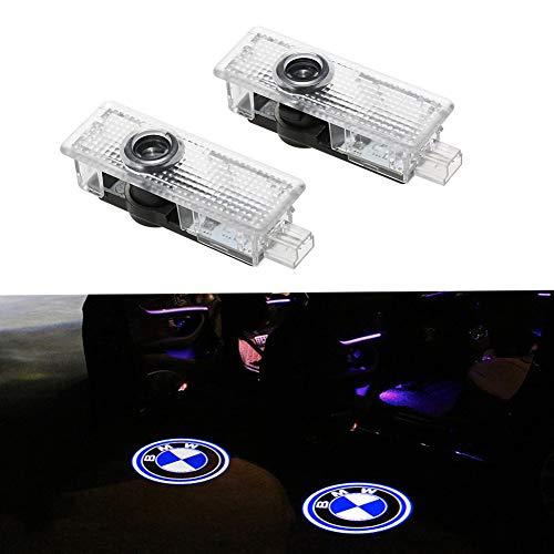 2 piezas LED Puerta de coche Luz de bienvenida Logotipo lámpara de bienvenida Símbolo láser Luces