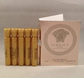 5 Versace Eros Pour Femme EDP Spray Sample Vial 1 Ml/0.03 Oz for Women