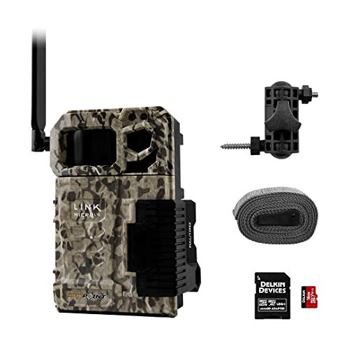 SPYPOINT Link-Micro-LTE Value Pack   Cellular Trail Camera 4 LED Infrared Flash Game Camera with 80-Foot Detection and Flash Range 4G-Capable 10MP 0.5-Second Trigger Speed Hunting Camera