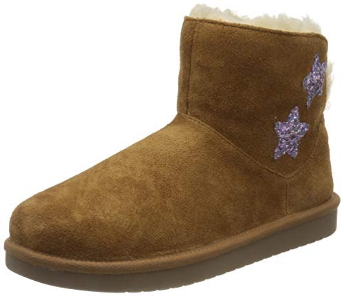 Koolaburra by UGG Kid's Koola Star Mini Classic Boot, Chestnut, 33.5 EU