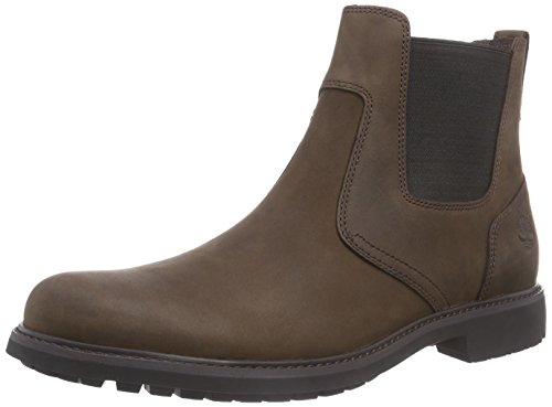 Timberland Stormbucks Chelsea Waterproof Pull-on, Stivali Chukka Uomo, Marrone (Burnished Dark Brown Oiled 242), 46 EU