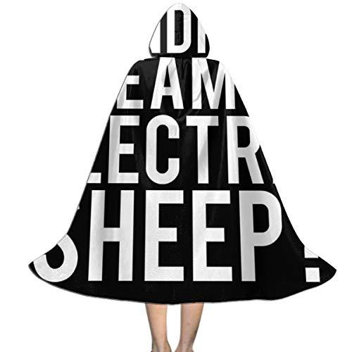 KUKHKU Do Androids Dream of Electric Sheep Blade Runner - Capa con Capucha Unisex para nios, para Halloween, Fiestas, decoracin, Disfraces de Cosplay