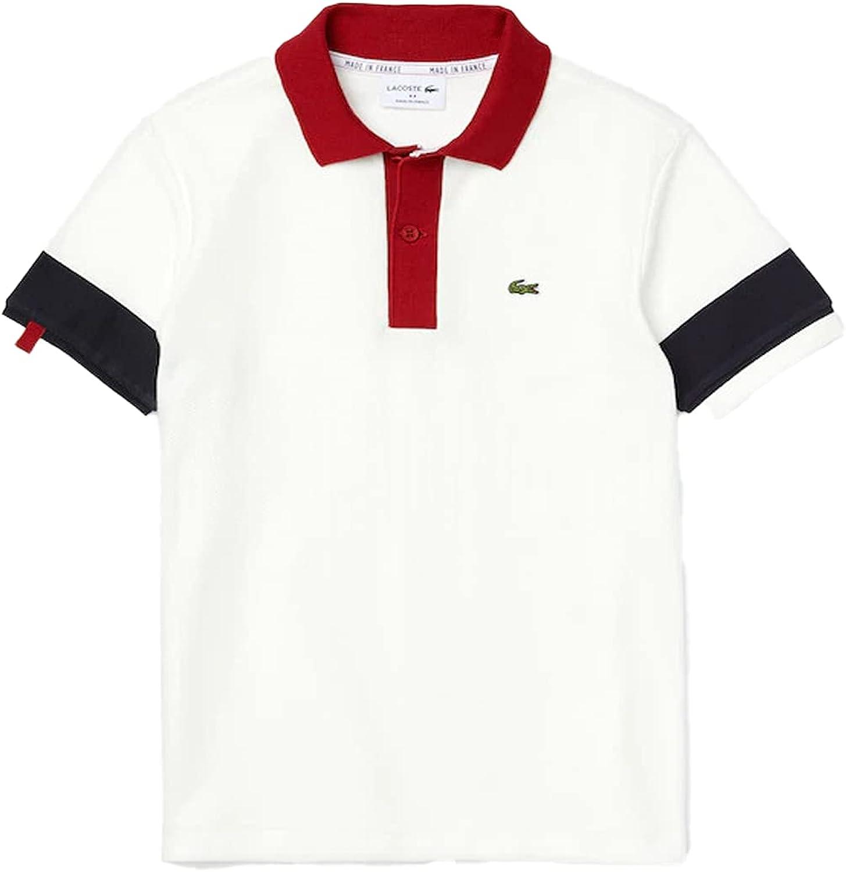 Lacoste Boy's Polo WHT/Navy 10YR