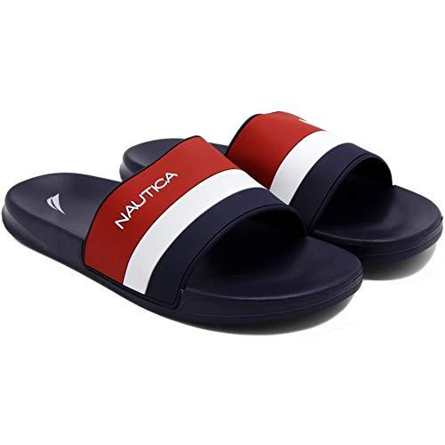 Nautica Men's Athletic Slide Comfort Sandal-Filton-Navy-9