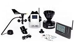 Professional and rugged weather station gives you inside/outside temperature and humidity; rain, wind, barometer, dew point, heat index, wind chill, and more Fast updates every 2.5 seconds with 1,000 feet (300 m) wireless transmission range Large bac...