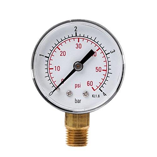 William-Lee 0-60 PSI Mini-drukmeter Zwembad Spafilter Waterdruk Meting 1/4