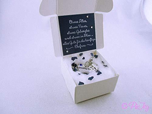 Etwas Blaues mit Geschenkschachtel, Geschenk, Braut, Hochzeit, Brauch