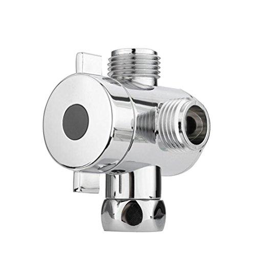BESTOMZ Válvula de desvío de la cabeza de ducha T-adapter