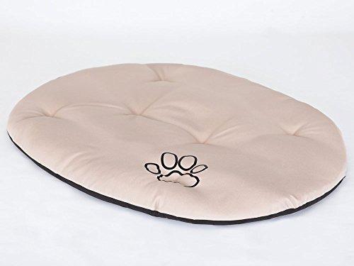 Hobbydog R9 PODJAB1 kussen Hobbydog, maat 9, 87 x 62 cm, duurzaam codurastof, wasbaar op 30 °C, bestand tegen krassen, Eu-product, XXL, beige, 600 g