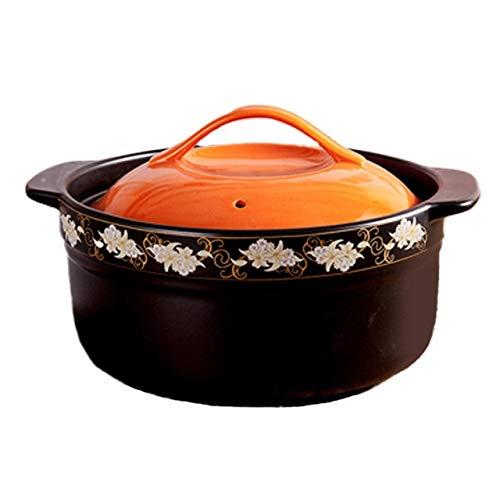 WZHZJ Gran Capacidad Resistente Al Calor del Hogar Salud Cazuela Sopa Maceta Decorativa Boca Profunda Piedra Pot Universal Pot