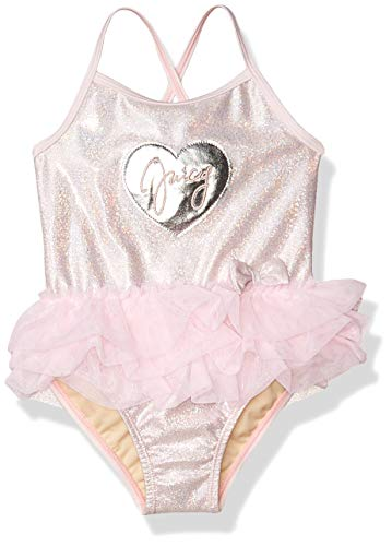 Juicy Couture Girls' Swimsuit, Pink, 4T