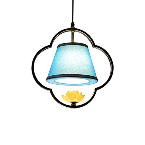 Lámparas de araña Lámpara de araña de Hierro de Estilo japonés, lámpara de Tela de Pasillo de Dormitorio de Restaurante de Pasillo Lámpara de Techo de lámpara de Tela Lámparas de araña