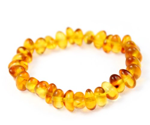 Premium Quality Natural Baltic Amber Baroque Bracelet by SilverAmber Jewellery UK - 100% Eco-Friendly Packaging - Money Back Guarantee - X-Small - Cognac