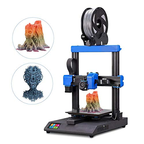 3D Printer, Dual Z-Axis design, Ultra Quiet High Precision TFT Screen Filament Sensor, Soundproof Dustproof 3D Printer Enclosure Tent Accessories