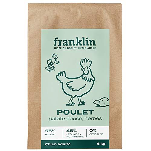 puissant Franklin – Croquettes Sans Céréales – Chiens Adultes – 100% Naturel – Hypoallergénique – Digestible…
