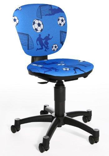 Topstar Maxx Kid Chaise de bureau pivotante pour enfant Motif football Bleu