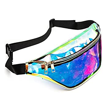 Zipper Fanny Packs for Women Clear Fanny Packs Fashion Waist Pack Bag Waterproof Fanny Pack with Adjustable Strap  Blue
