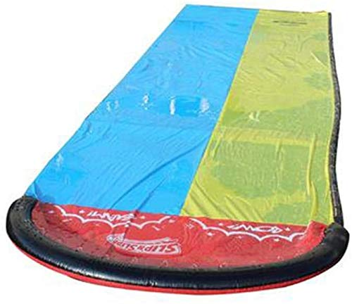 Bezgev Lawn Water Slide 16ft , Slip & Slides for Kids Splash Sprint Racing Water Slide Double Water Slide Inflatable for Children Large Thick Surfing Watersports for Outdoors Family Activities