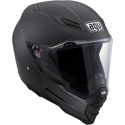 AGV AX-8 Evo Naked Road Helmet (Matte Black, XX-Large)