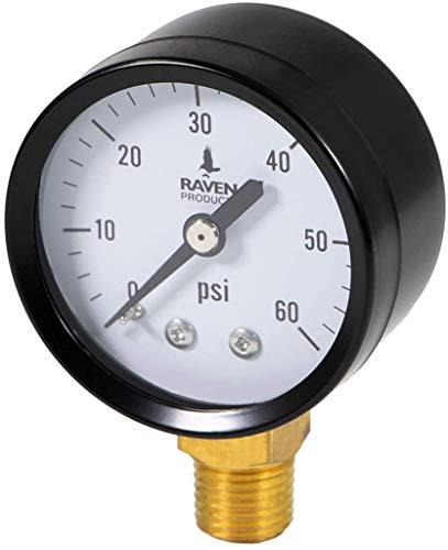 Supply Giant S1522-1 Water Pressure Test Gauge, 60 PSI, 0-60