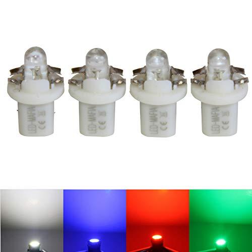 LED-Mafia® Lot de 4 éclairages ronds pour tachocolats Blanc/bleu/rouge