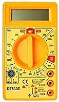 Tfpro Digital Multimeter Small Yellow Color Lcd Ac Dc Measuring Voltage Current Dt830Ds