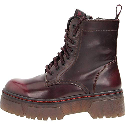 Wrangler footwear - piccadilly hi polished stiefelette - 36 - bordeaux