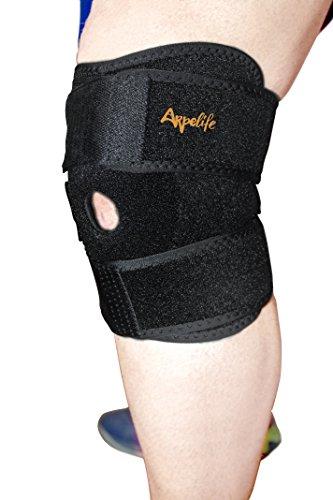 Rodillera Deportiva de Neopreno Ajustable - Rodillera Ortopédica Terapéutica para aliviar y prevenir lesiones. Rodillera Estabilizadora de Compresión para Menisco, Ligamento Lateral y Cruzado Anterior