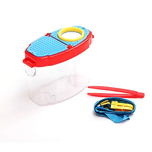 Deanyi 1Stk Insect Viewer Vergrößerungs Box Vergrößerungs Bug Viewer Box mit Deckel Luftlöcher Insekt Mikroskop Lupenbrille für Kinder Outdoor Aktivitäten Exploration Spielzeug für Kinder Bürobedarf