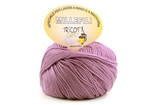 woolove Millefili - 100% Cotone per Lavoro a Uncinetto.07 Rosa Antico