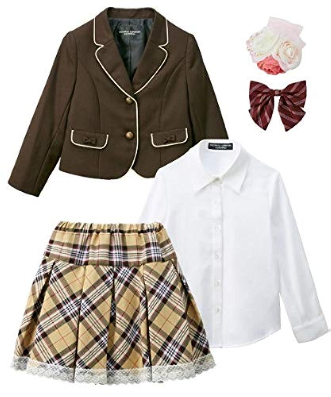 [nissen(ニッセン)] 卒園式 入学式 七五三 ミチコロンドン フォーマル スーツ 3点セット 女の子 子供服 女の子 キッズ セット組