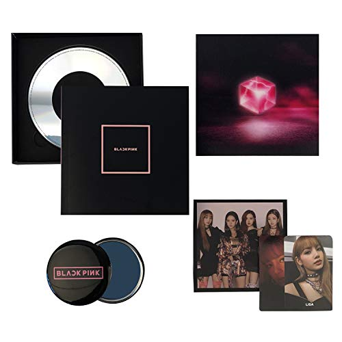 Square Up [ BLACK Ver. ] - BLACKPINK 1st Mini Album CD + Photo Book + Lyrics Book + Postcard + Photocard + FREE GIFT / K-POP Sealed.