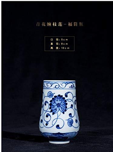 WXFXBKJ Jingdezhen handgemacht chinesische Stil Wohnzimmer Tee Tisch Retro blaues und weiß Porzellan Home Wohnzimmer Blume anordnung Kleiner vase Keramik Dekoration Ornamente (Size : I)