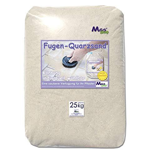 MGS SHOP 25kg Fugensand geprüfte Qualität Quarzsand Körnung wählbar (0.3-0.6 mm)
