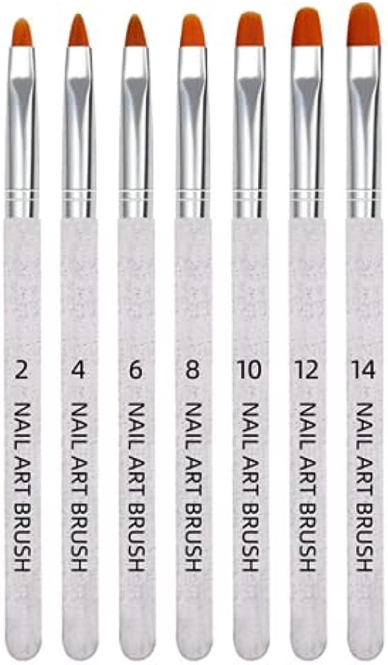 AvoDovA 7 Stück Nagel Pinselset, Malerei Pen für Gelnägel Pinselset, UV-Gel Nagel Pinsel Gelnagel Pinsel, Nagelpinsel UV Gel Nagel Acryl Pinsel Nail Art Nagel Kunst, Nagelbürste für Nägel Nailart (B)