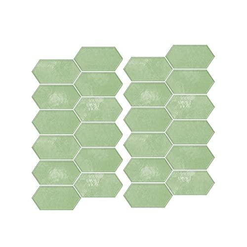 24 piezas pegatina de azulejo geométrico mármol Peel and Stick Wall Etiqueta de pared resistente al calor resistente al calor Calcomanía 3D para la sala de estar Dormitorio Chimenea Cocina