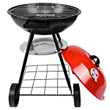 Boddenly Portable Charcoal Grill Round Portable Barbecue Grill Outdoor Charcoal Grill